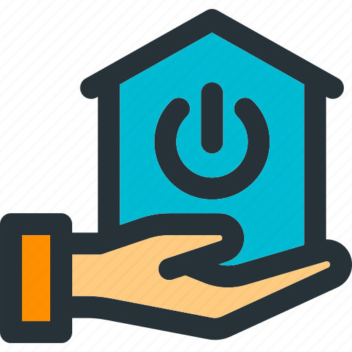 apartment, building, home, house, power, share, smart icon
