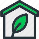 building, eco, ecology, environment, house, nature, plant icon