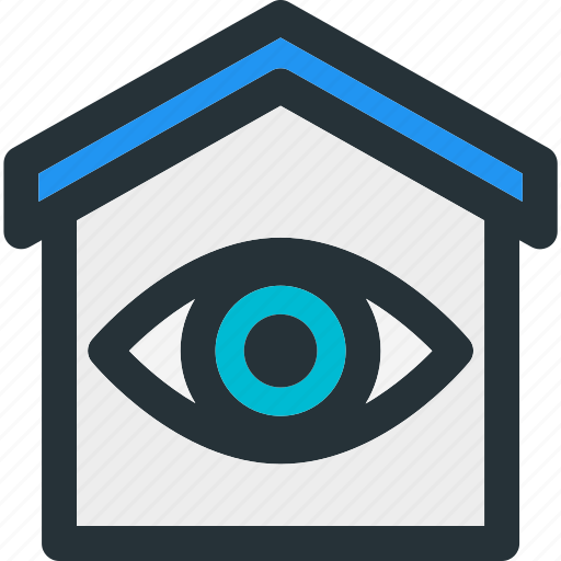 eye, find, home, house, monitor, smart, view icon