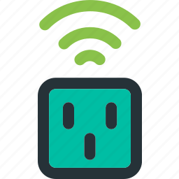 electric, electricity, energy, plug, power, wireless icon