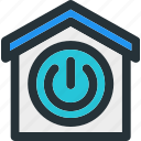 apartment, building, home, house, power, smart icon