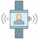 device, electronic, gadget, internet, people, signal, smart watch icon