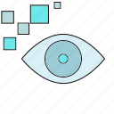 eye scan, iris scan, security, sensor icon