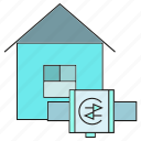 control, home, house, smart home, smart watch icon