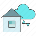cloud, data, home, house, internet, network, server icon