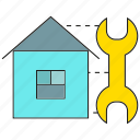 fix, home, hosue, repair, tool, wrench icon