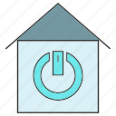 home, house, smart home, smart house, start icon