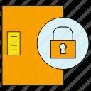 door, lock, protect, security icon