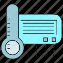 air conditioner, temperature measurer, thermometer, thermostat icon