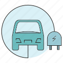 car, electric car, energy, plug icon