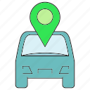 car, location, pin icon