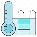 bath, temperature measurer, thermometer icon