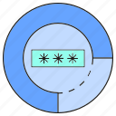 gauge, password, seure icon