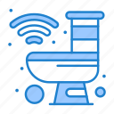 bathroom, house, internet, robot, smart icon
