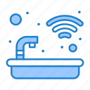 bath, house, smart, tub, water icon