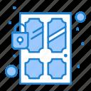 door, lock, sensor, smart, technology icon