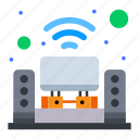 home, multimedia, music, system, theater icon