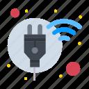 energy, plug, power, renewable, smart icon