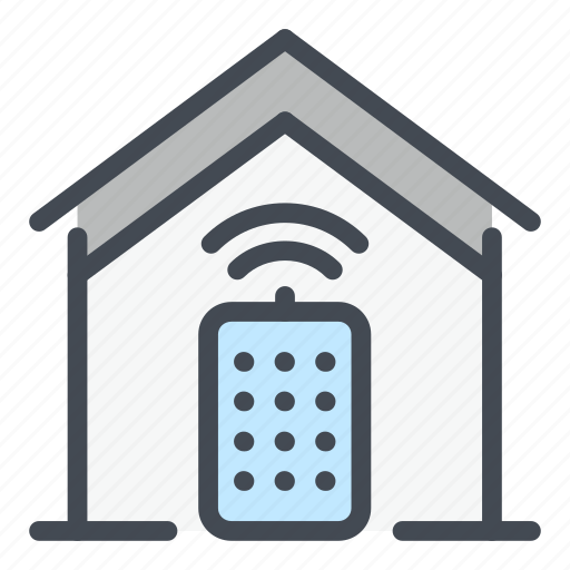 building, connect, connection, control, home, house, remote icon