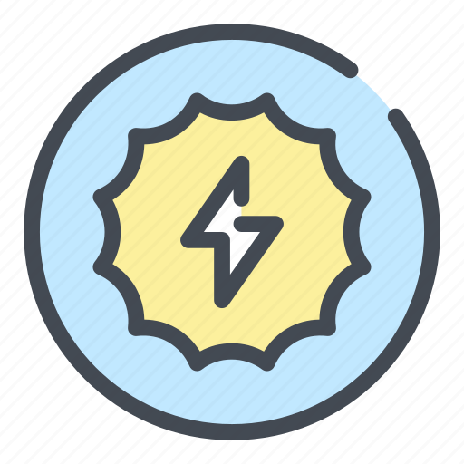 battery, electric, electricity, energy, light, power, sun icon