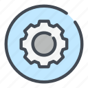 cog, configuration, control, gear, options, preferences, settings icon