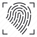 finger, fingerprint, home, internet, print, security, smart