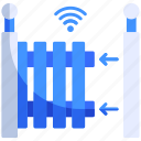 fence, gate, home, house, smart, technology, wifi icon