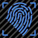 finger, fingerprint, home, internet, print, security, smart icon