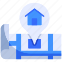 home, house, location, map, pin, place, smart