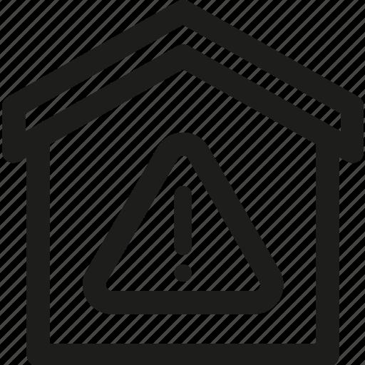 alarm, alert, building, error, home, house, smart icon
