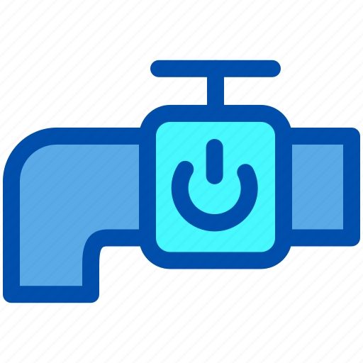 House, off, on, power, smart, tap, water icon - Download on Iconfinder