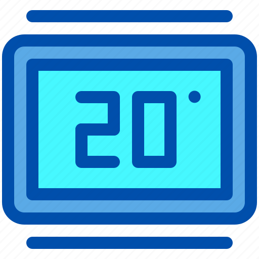 House, smart, temperature, thermostat icon - Download on Iconfinder