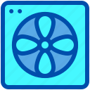 air, conditioner, fan, house, smart icon