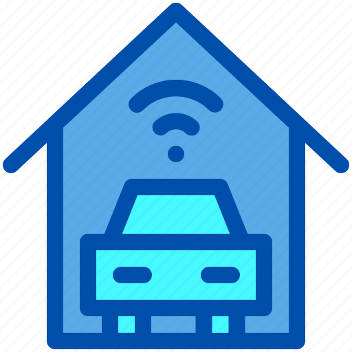 Automatic, car, garage, house, smart, wireless icon - Download on Iconfinder