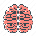 artificial, artificial intelligence, brain, intelligence, smart, technology icon