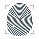 fingerprint, fingerprint identification, identification, smart, technology icon