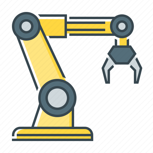 arm, robotic, robotic arm, technology icon