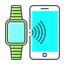 connection, mobile, phone, smart, smart connection, smart watch, watch icon