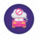 control, emission, vehicle icon