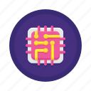 circuit, virtual icon