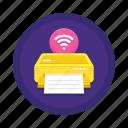 printer, wireless icon