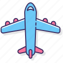 aircraft, airplane, flight, flying, plane, transport, travel icon