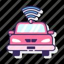 autonomous, car, driverless, smart icon