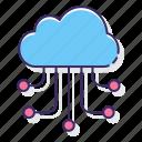 cloud, computing, network, online, server icon