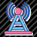 communication, communication tower, radio, signal, tower icon