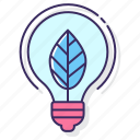 eco, energy, friendly, lightbulb, nature icon