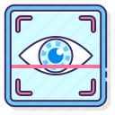 biometric, eye, scanning, security icon