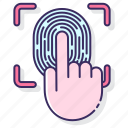 data, fingerprint, personal, scanner, unlock icon