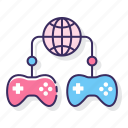 gameplay, mmo, network, online, sharing icon