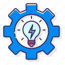 control, efficient, energy, intelligent, management, power icon